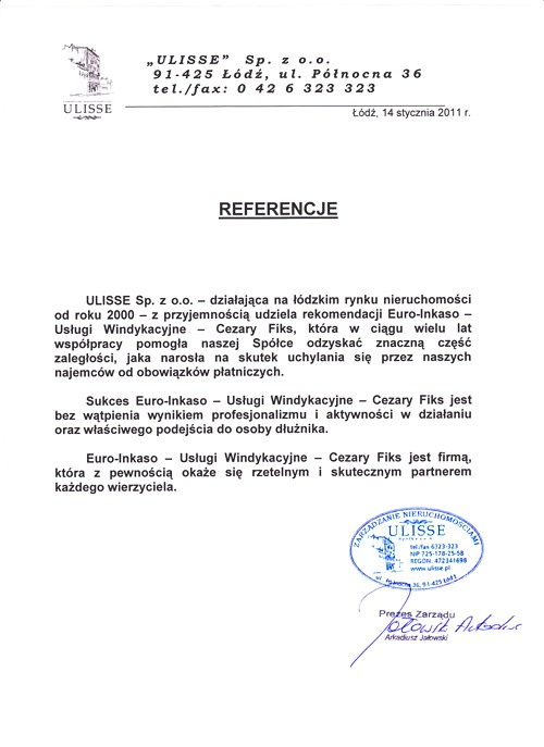 ULISSE Sp. z o.o.