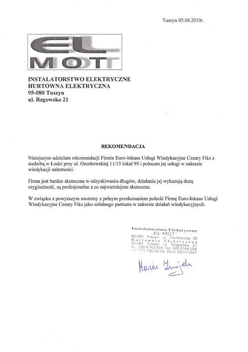 Instalatorstwo Elektryczne EL-MOT