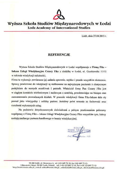 Wyższa Szkoła Studiów Międzynarodowych Łódź