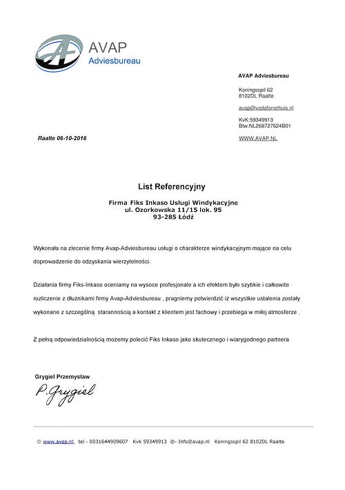 AVAP Adviesbureau - Holland Przemysław Grygiel