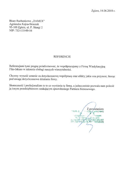 Biuro Rachunkowe DAMEX Agnieszka Kiejna-Straszak Odzyskiwanie należności dla biur rachunkowych